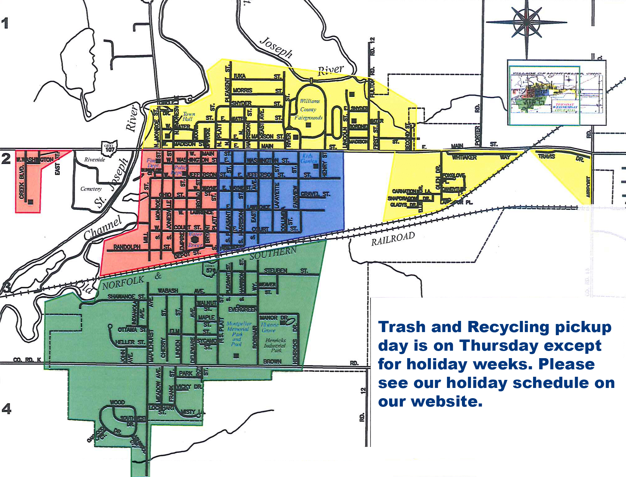 ars recycling & bulk item pick-up schedule – village of montpelier